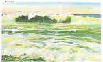 Breakers, Scenic Ocean View Postcard