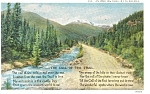 Inviting Road In The Rockies Postcard