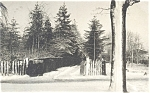 Winter Scene Undivided Back Postcard 1906