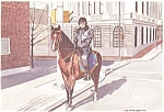 Lancaster Pa Mounted Policeman Watercolor