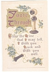 Hallmark I Wish You Luck Postcard