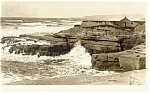 Rocky Coastal Scene Real Photo Postcard