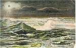 Moonlight On Storm Tossed Sea Postcard 1906