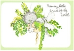 Cat In A Plant Greetings Postcard