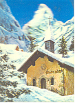 Church In Snow Scene 3-d Postcard
