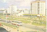 Foreign Street Scene Buses Postcard