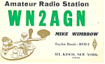 Amateur Radio Wn2agn Qsl Postcard