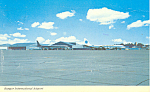 Bangor International Airport Postcard 1973