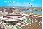 Busch Memorial Stadium St Louis Postcard