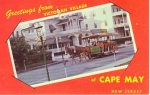 Cape May Nj Victorian Village Postcard