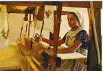 Woman Weaving In Crete