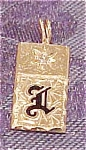 14k Gold Charm With Diamond