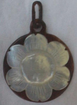 Victorian Tortoise & Mother Of Pearl Pendant