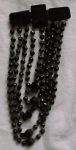 Victorian Mourning Pin W/jet Glass Beads