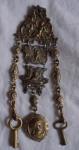 Victorian Chatelain W/keys And Locket