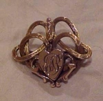 Victorian Gold Filled Pin With Heart