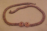 Victorian Gold Filled Choker With Garnets
