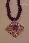 Victorian Pendant On Garnet Necklace