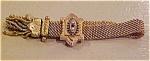 Victorian Slide Bracelet W/pearls & Garnets