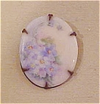 Hand Painted Victorian Flower Pin