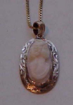 14 Kt Gold Cameo Pendant