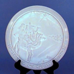 Frankoma Christmas Plate 1972 Seeking Christ Child