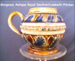Doulton Lambeth Miniature Pitcher
