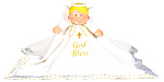 Ganz Angel Blanket, God Bless Watch Over Me, 29 Inches