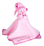 Ganz Plush Pink My First Teddy Mini Blanket