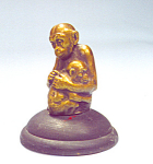 Rare Bronze Figure Mother And Baby Monkeys Artist Frei