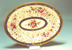 Early Worcester Platter Hp Flowers Gold Leaves