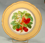 Gorgeous Paris Hp Fruit Plate Red Cherries And Blossoms
