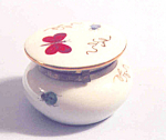 Limoges Paris Hinged Rouge Box Hp Butterfly Insects