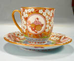 Lovely New Asian Cup And Saucer Hp People Animals