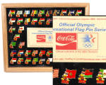 Official Olympic Intl.flag Pin Series By Coke