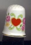 Heart And Flowers Thimble-queens