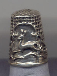Running Deer Sterling Silver Thimble