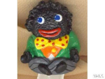 Golliwog-green Hand Painted Pewter Thimble