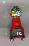 Gumball Machine Hand Painted Pewter Thimble