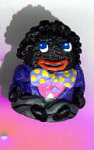 Golliwog-purple Hand Painted Pewter Thimble