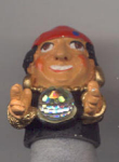 Fortune Teller Hand Painted Pewter Thimble