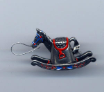 Rocking Horse Hand Painted Pewter Thimble