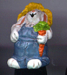 Farmer Rabbit Hand Painted Pewter Thimble