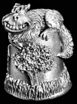 Chesshire Cat Pewter Thimble
