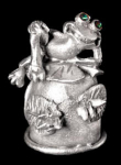 Frog Pewter Thimble