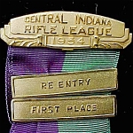 1954 Central Indiana Rifle League Medal