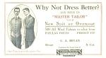 Master Tailors Early Advertising Blotter