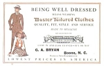 Master Tailored Clothes Early Advertising Blotter