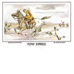 Postal Mail Carrier Pony Express Happy Holiday Postcard