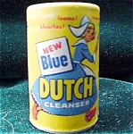 Blue Dutch Cleanser Advertising Sample Or Minature